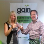 - Nicole Pearson celebrates achieving the ACCA standard with Gain Director Ian Jefferies.